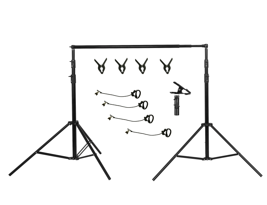 Kate 3x2.8m Frame Kit both for Fabric Backdrop and Double-side Pop-up backdrop( including 4 fish mouth clips + 4 stretch clips + E vigorous clip) AU