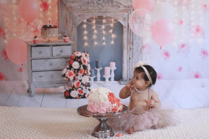 Load image into Gallery viewer, Katebackdrop£ºKate Cake Smash For Party Photography Pink 1st birthday Backdrop Balloons