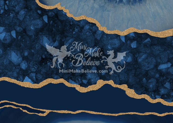 Kate Tapestry Blue Geode Backdrop Designed by Mini MakeBelieve