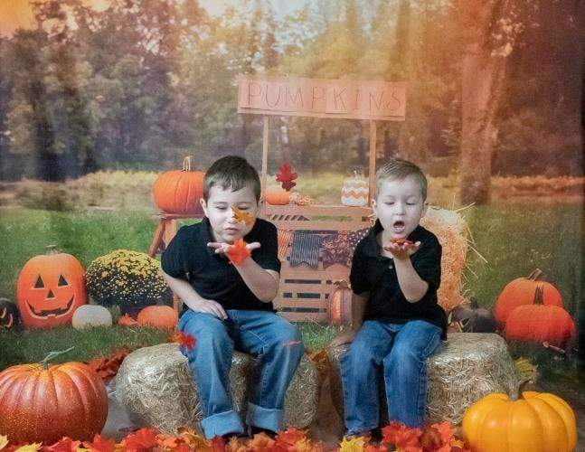 Load image into Gallery viewer, Kate Halloween Photography Backdrop For Party Pumpkins Grassland