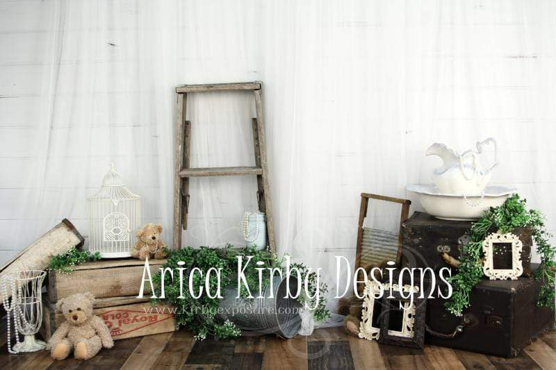 Load image into Gallery viewer, Kate Vintage Treasures Spring/Easter Backdrop designed by Arica Kirby