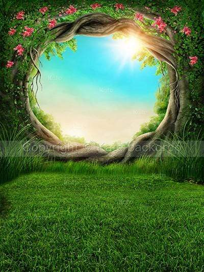 Load image into Gallery viewer, Katebackdrop Kate Fantastic Backdrop Scenery Forest Circle Tree