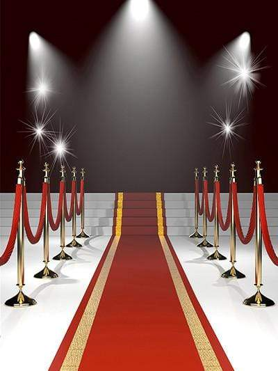 Katebackdrop£ºKate Red Carpet Stairs Light Black Background Wedding Photo