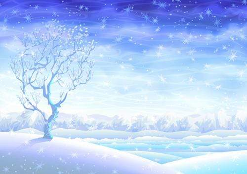 Katebackdrop£ºKate White Fantasy Snow World Winter Backdrop for Christmas holiday