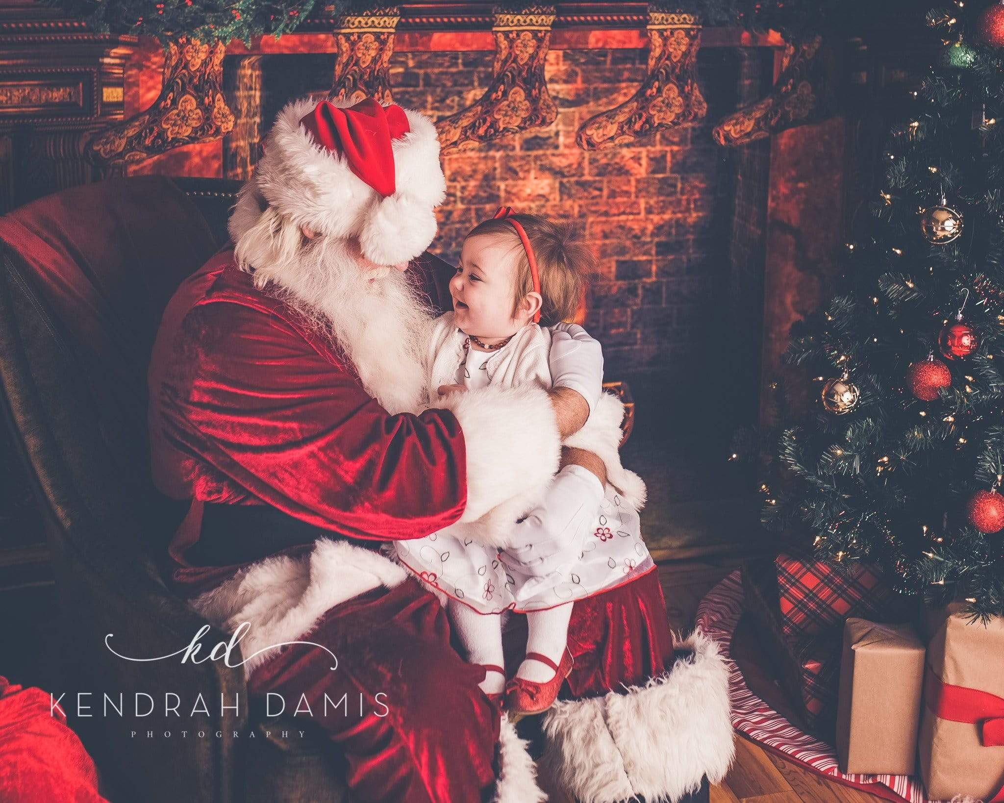 Load image into Gallery viewer, Kate Christmas Fireplace Backdrop Photography
