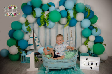 Kate Sailing Boat Cake Smash Backdrop Designed by Csilla Kancsar