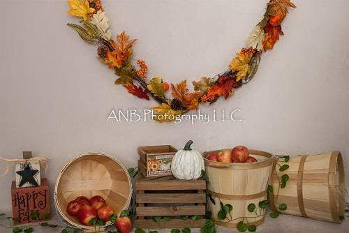 Kate Happy Fall Thankgiving Backdrop for Photography Designed By Alisha Byrem