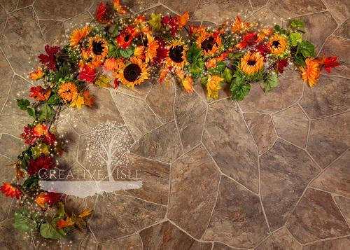 Kate Fall Stone Backdrop Designed by Chrissie Green