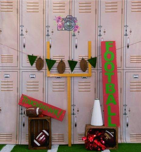 Kate Sports Football Lockers Backdrop Designed by Leann West