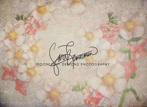 Kate Painted Floral Backdrop for Photography Designed by Sarah Timmerman