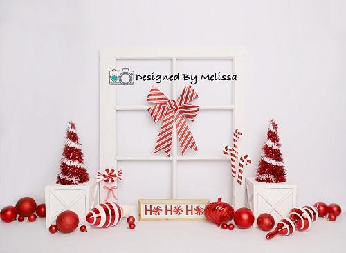 Kate Red and White Christmas Backdrop Designed by Melissa King