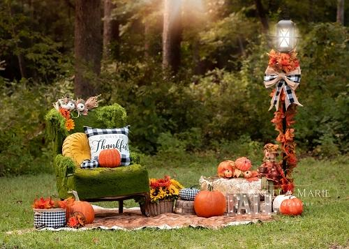Kate Outdoor Fall Pumpkin Backdrop Designed By Angela Marie Photography