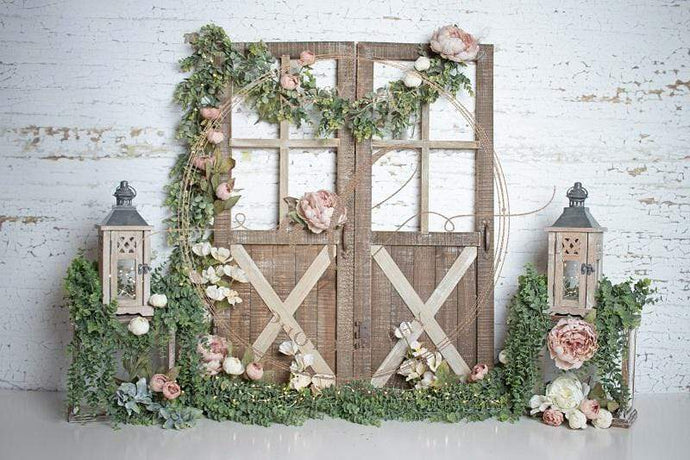 Kate Easter/Spring Secret Garden Backdrop for Cake Smash Designed by Kathie Chase
