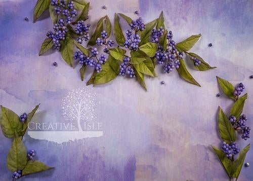 Kate Purple Berries Backdrop Designed by Chrissie Green