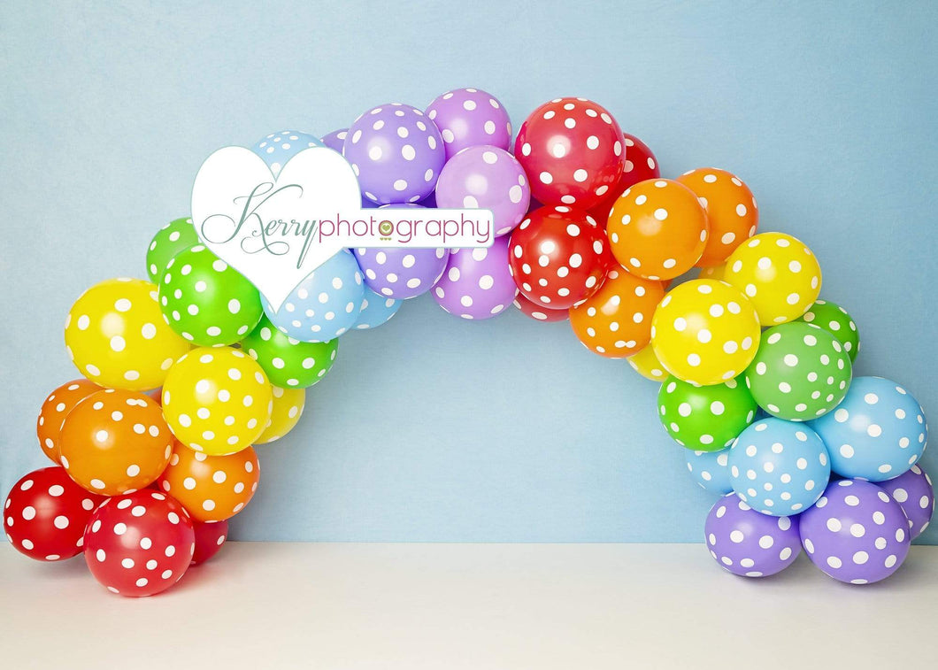 Kate Balloons Rainbow for Children Backdrop for Photography Designed by Kerry Anderson