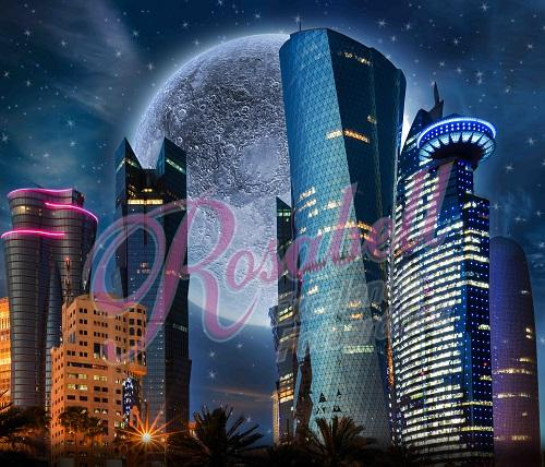 Kate Super Hero Moon City Backdrop Designed by Rosabell Photography