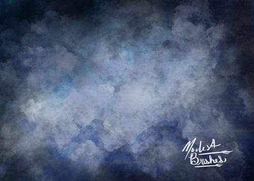 Kate Stormy Clouds Dark Blue Backdrop Designed by Modest Brushes