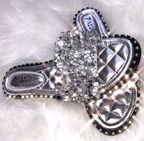 Take Me To The Jewely Shop Slide-In Sandals