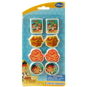 Jake and the Never Land Pirates Erasers 8-pack