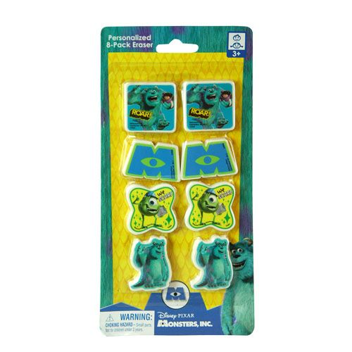 Monsters, Inc. Erasers 8-pack