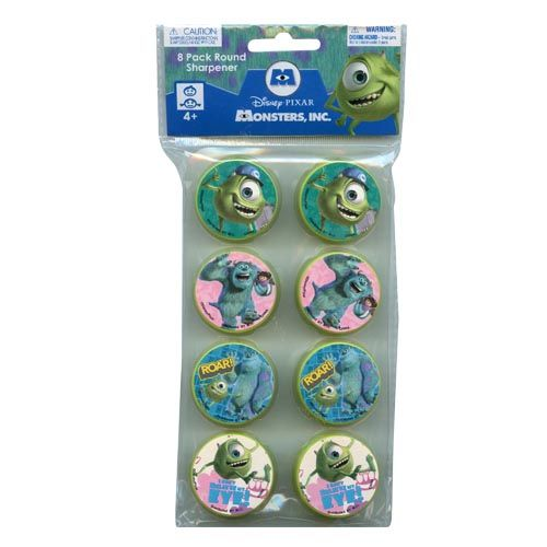 Monsters, Inc. Round Sharpener 8-pack
