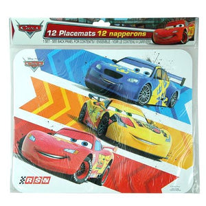 Cars Paper Placemats 12ct