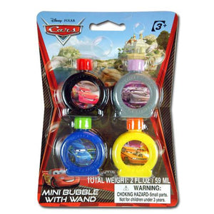 Cars Mini Bubble with Wand 4-pack