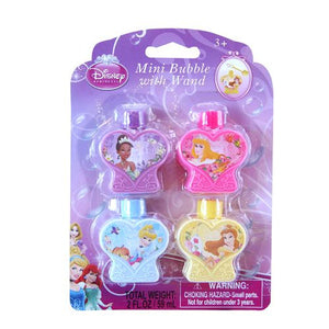 Princess Mini Bubble with Wand 4-pack
