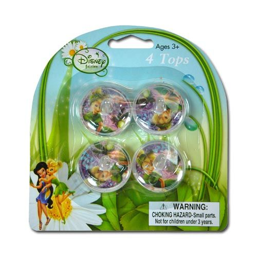 Tinker Bell Mini Spinning Tops 4-pack