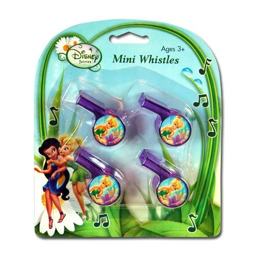 Tinker Bell Mini Whistles 4-pack