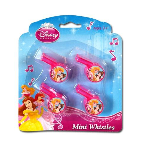 Princess Mini Whistles 4-pack