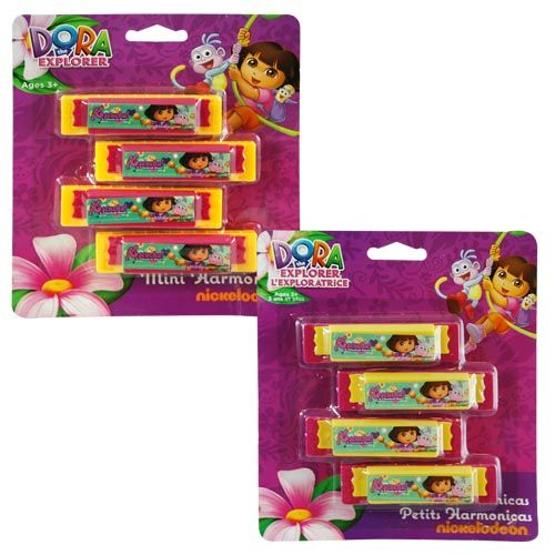 Dora the Explorer Mini Harmonicas 4-pack
