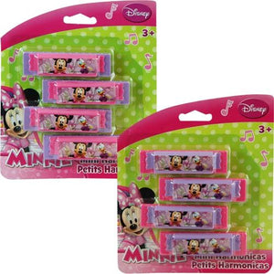 Minnie Mouse Mini Harmonicas 4-pack