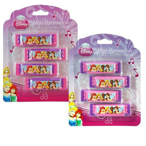 Princess Mini Harmonicas 4-pack