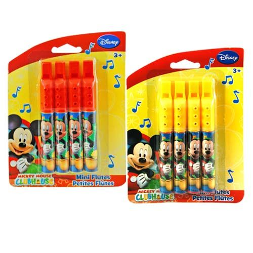 Mickey Mouse Mini Flutes 4-pack