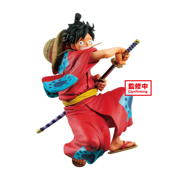 BANPRESTO 39952 One Piece King of Artist The Monkey D. Luffy Wanokuni Figure