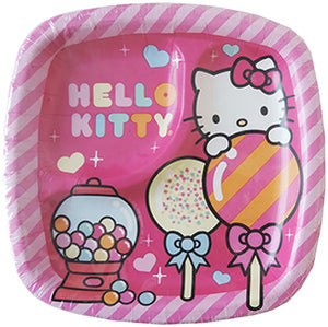 "Hello Kitty Pocket Plates 7"" 8ct"