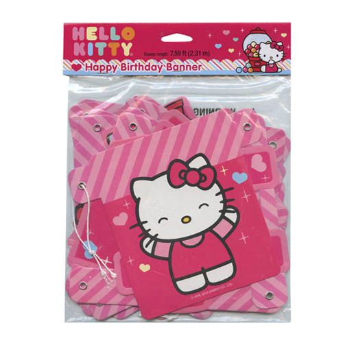 Hello Kitty Happy Birthday Banner