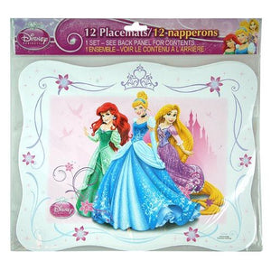 Princess Paper Placemats 12ct