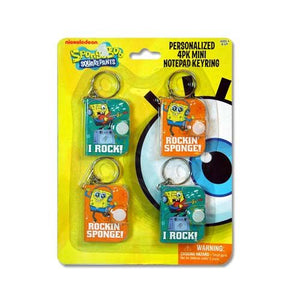 SpongeBob SquarePants Mini Notepad Keyring 4-pack