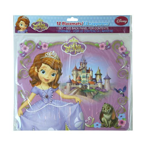 Sofia the First Paper Placemats 12ct