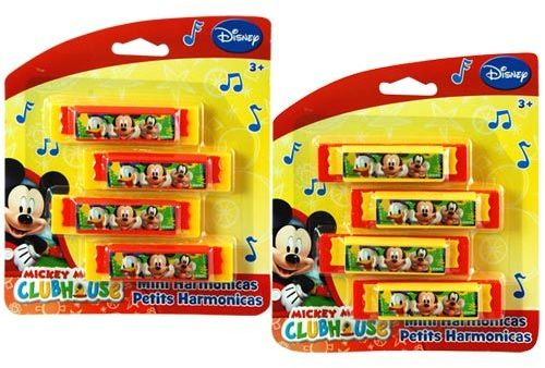 Mickey Mouse Mini Harmonicas 4-pack
