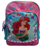 "A01441 The Little Mermaid Large Backpack 16"" x 12"""