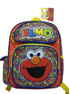 "B14SS20919 Sesame Street ELMO Small Backpack 12"" x 10"""
