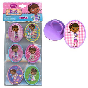 Doc McStuffins Rings 6-pack