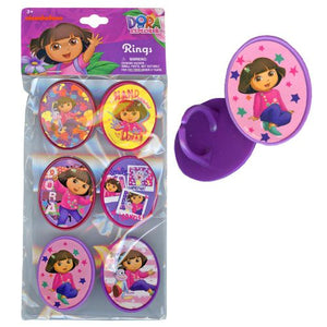 Dora the Explorer Rings 6-pack