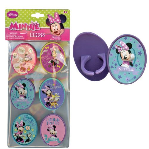 Minnie Mouse Rings 6-pack