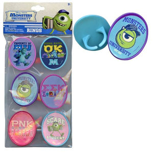 Monsters, Inc. Rings 6-pack