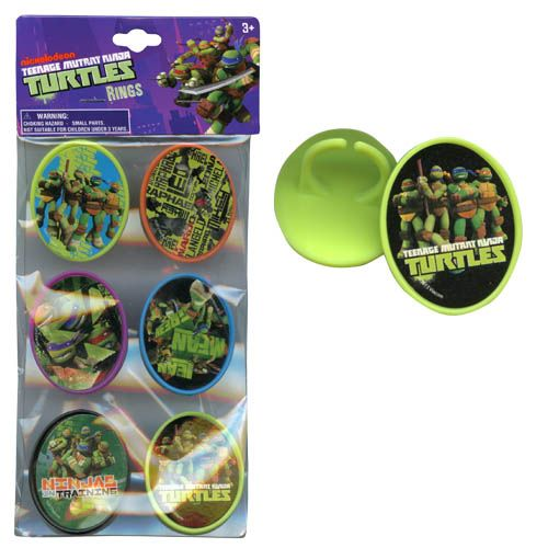 Teenage Mutant Ninja Turtles Rings 6-pack
