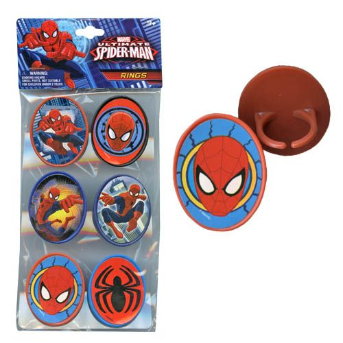 Spider-Man Rings 6-pack